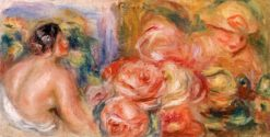 Roses and Small Nude | Pierre Auguste Renoir | Oil Painting