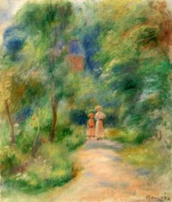 Two Figures on a Path | Pierre Auguste Renoir | Oil Painting