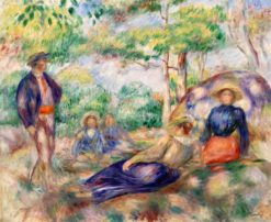 Relaxing in the Grass | Pierre Auguste Renoir | Oil Painting