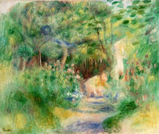 Landscape with Woman Gardening | Pierre Auguste Renoir | Oil Painting