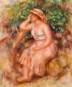 Woman Daydreaming | Pierre Auguste Renoir | Oil Painting