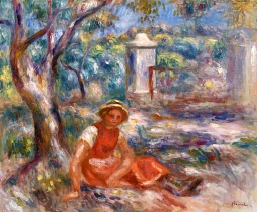 Girl at the Foot of a Tree   Pierre Auguste Renoir   Oil Painting