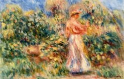 Landscape with Woman in Pink and White | Pierre Auguste Renoir | Oil Painting
