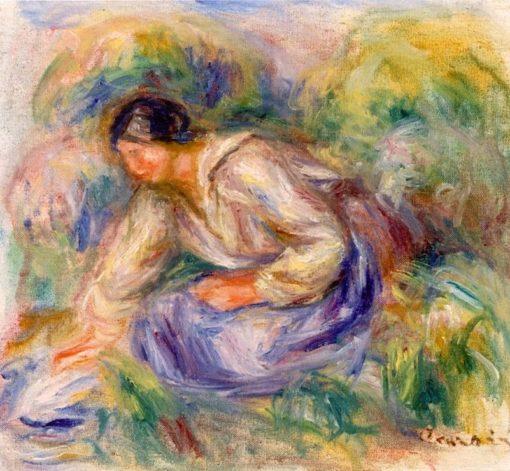 Woman in a Blue Skirt | Pierre Auguste Renoir | Oil Painting