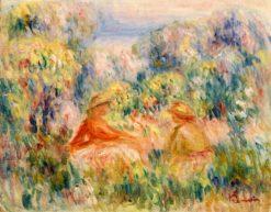 Two Women in a Landscape | Pierre Auguste Renoir | Oil Painting