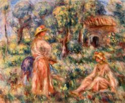 Girls in a Landscape | Pierre Auguste Renoir | Oil Painting