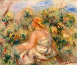 Woman with Hat in a Landscape | Pierre Auguste Renoir | Oil Painting