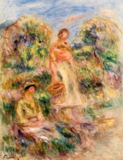 Standing Woman and Seated Woman in a Landscape | Pierre Auguste Renoir | Oil Painting