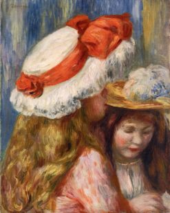 Girls with Hats | Pierre Auguste Renoir | Oil Painting