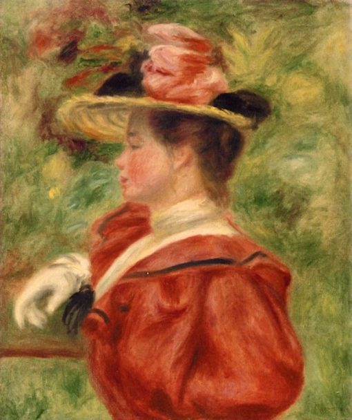 Woman with Glove | Pierre Auguste Renoir | Oil Painting