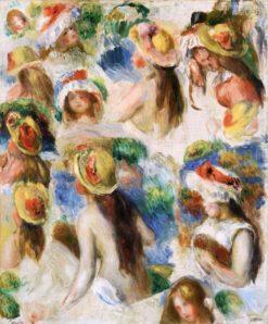 Study of Heads | Pierre Auguste Renoir | Oil Painting