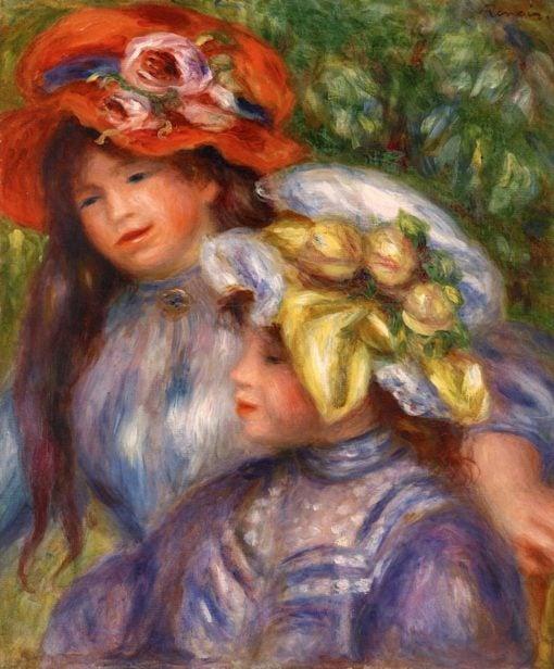 Two Girls | Pierre Auguste Renoir | Oil Painting