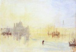 Sunset over Sanata Maria della Salute and the Dogana   Joseph Mallord William Turner   Oil Painting