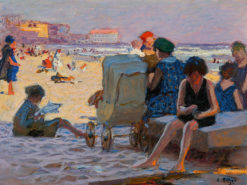 Baby Carriage on Beach | Edward Potthast | Oil Painting